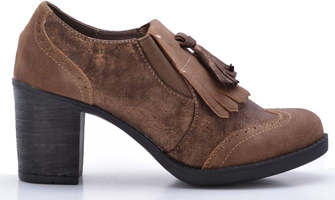 Zapatos Mocasines de Mujer con Tacón (41): Amazon.es: Zapatos y ...