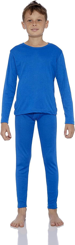 Rocky Thermal Underwear for Boys Cotton Knit Thermals Kids Base Layer Long John Pajamas Set