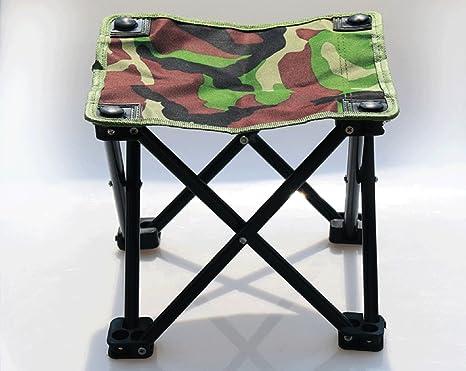 Sedie pieghevoli con struttura in metallo portatile sgabello