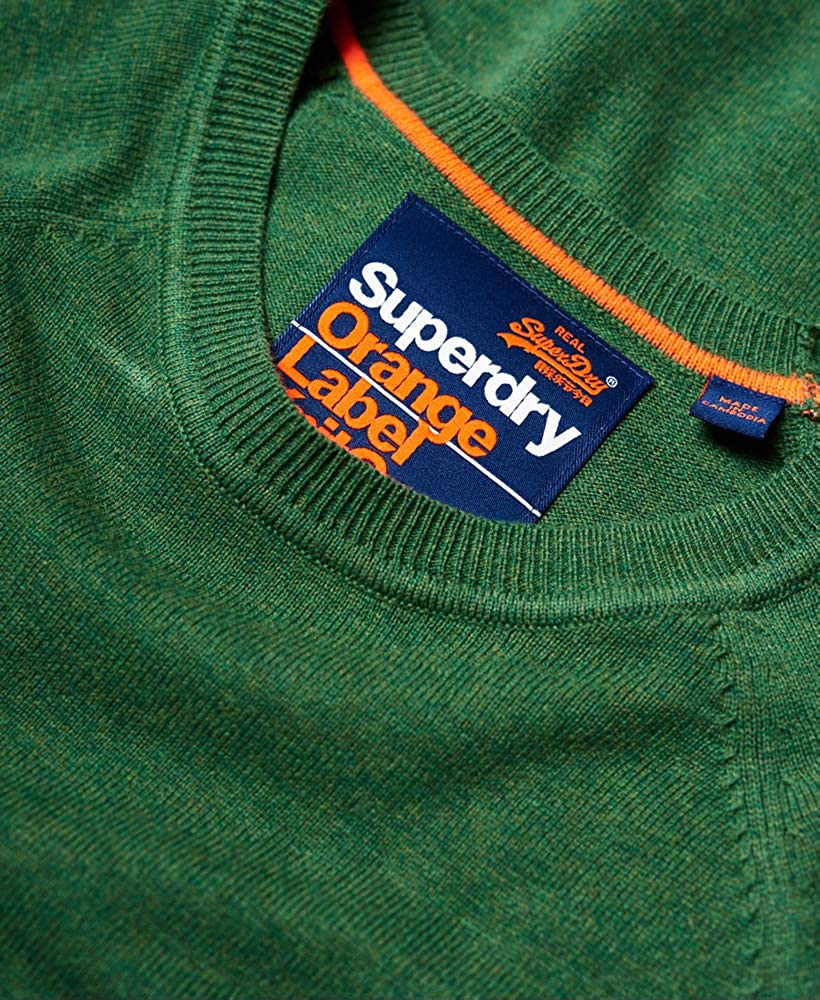 Superdry Orange Label Cotton Crew Su/éter para Hombre