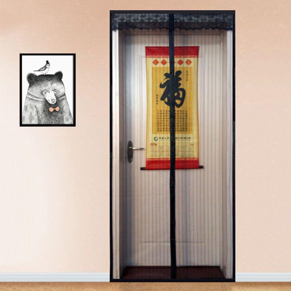 FTHIYK Encriptación Malla Mosquitera Puerta Impermeable A Prueba De Polvo Cortina De Ventilación Mute Magnética Pantalla Suave Puerta Simple Rayado,130 * 220cm(51.2 * 86.6in): Amazon.es: Hogar