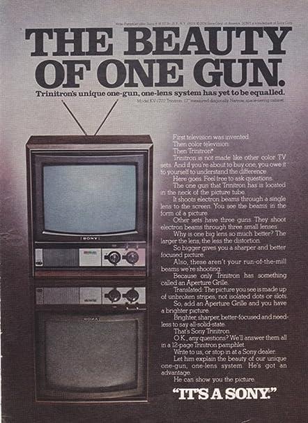 Sony Trinitron Television Set 1974 Original Vintage