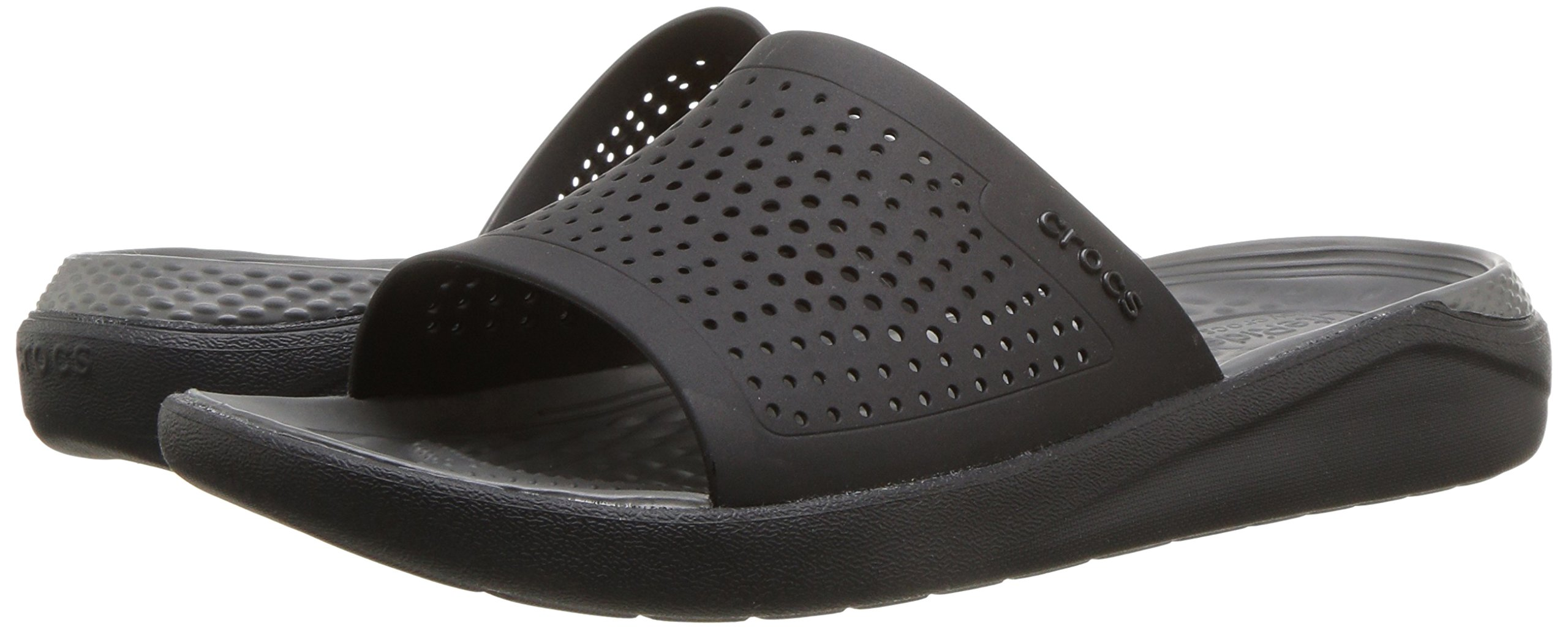 Crocs Unisex-Adults Literide Slide Sandal, Black/Slate Grey, 8 US Men/10 US Women by Crocs (Image #6)