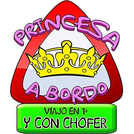 Pegatina princesa a bordo princesita