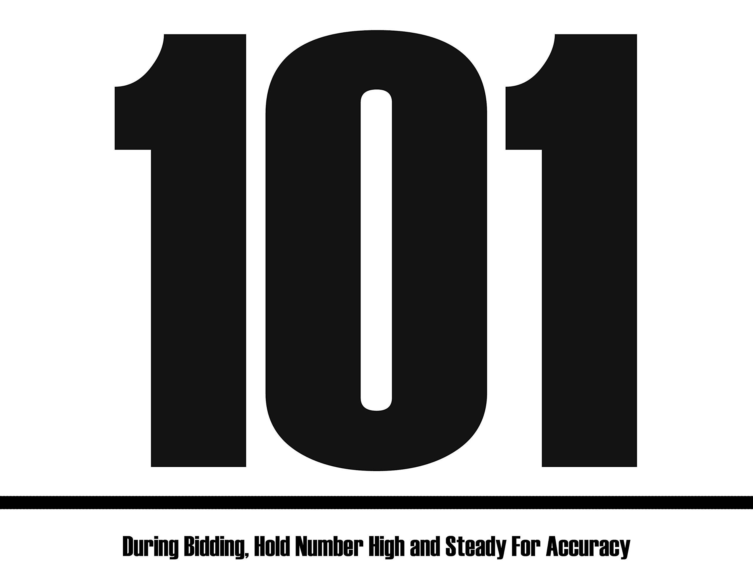 Bid Card - 101-200 (8.5-x-11-inch)
