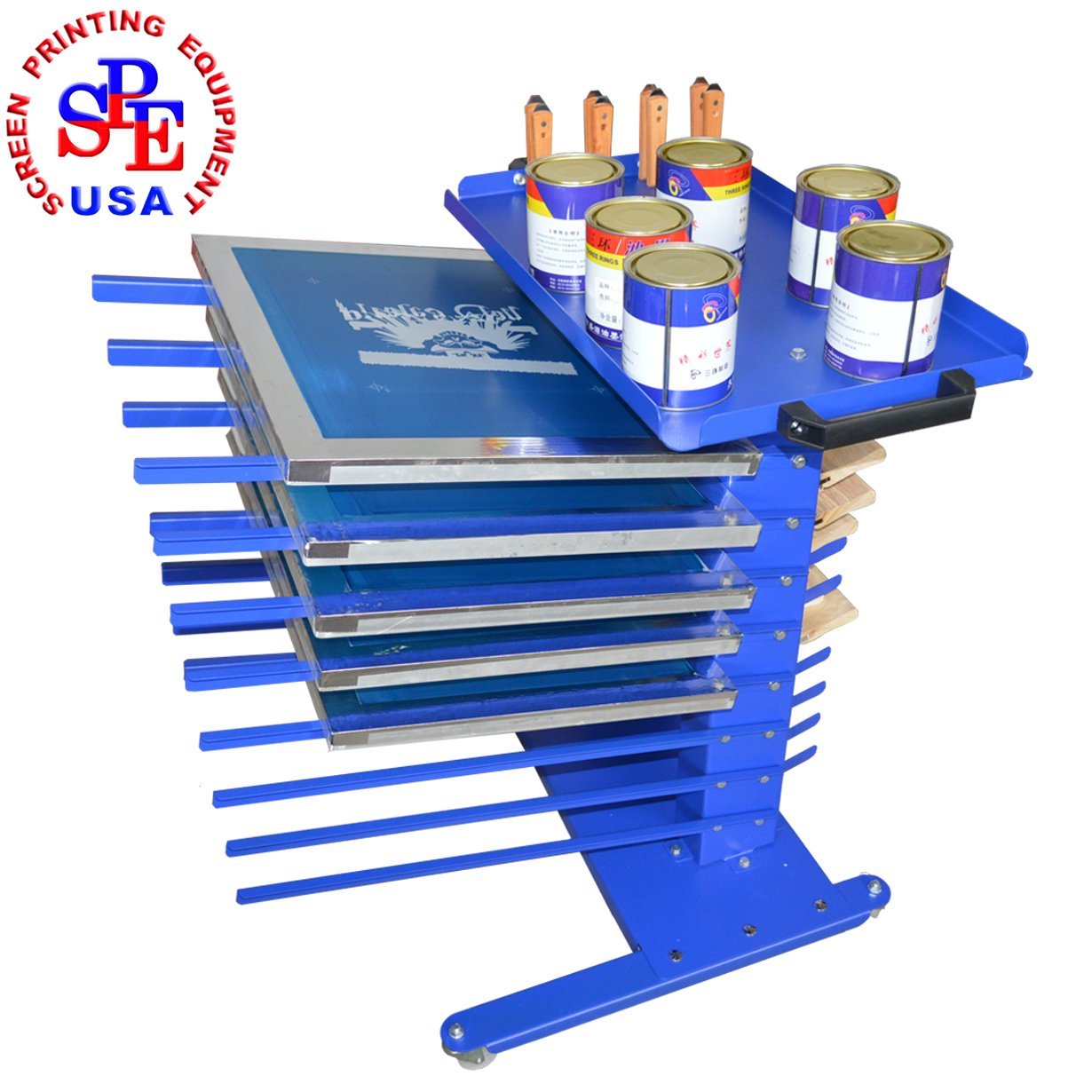 Mobile Type Screen Printing Material Rack Screen Printing Tool Aluminum Frame Rack/Squeegee Rack/Ink Rack/Spatulas Shovel Handle Knife Rack by Screen Printing  Auxiliary Equipment