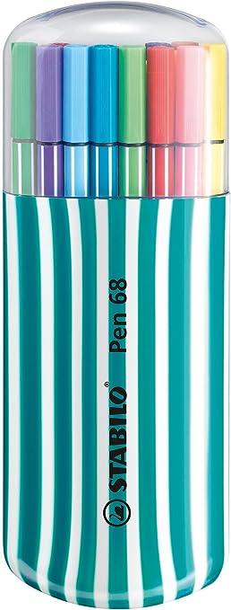 Premium Filzstift Stabilo Pen 68 20er Zebrui In Petrol Mit 20 Verschiedenen Farben Bürobedarf Schreibwaren
