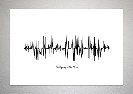 Coldplay - Fix You - Sound Wave Song Art Print - A4 Size