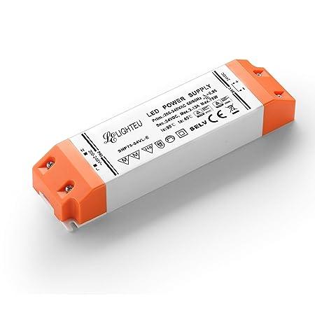 LIGHTEU, fuente de alimentación del transformador LED - 50W, 12V DC, 4A - Voltaje constante para las luces de tira del LED y las bombillas del LED G4, MR11, ...
