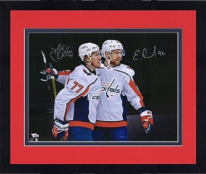 "25981fd1 Framed Evgeny Kuznetsov & T.J. Oshie Washington Capitals Autographed  16"" x 20"" Spotlight Photograph"