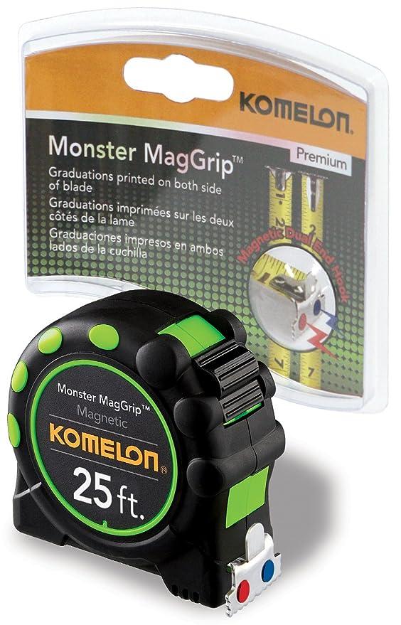 Komelon 7125 Monstruo MagGrip metros cinta métrica con extremo magnético: Amazon.es: Bricolaje y herramientas