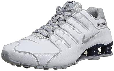 Nike Shox Nz Eu  Chaussures de sport homme Blanc (White Wolf Gris