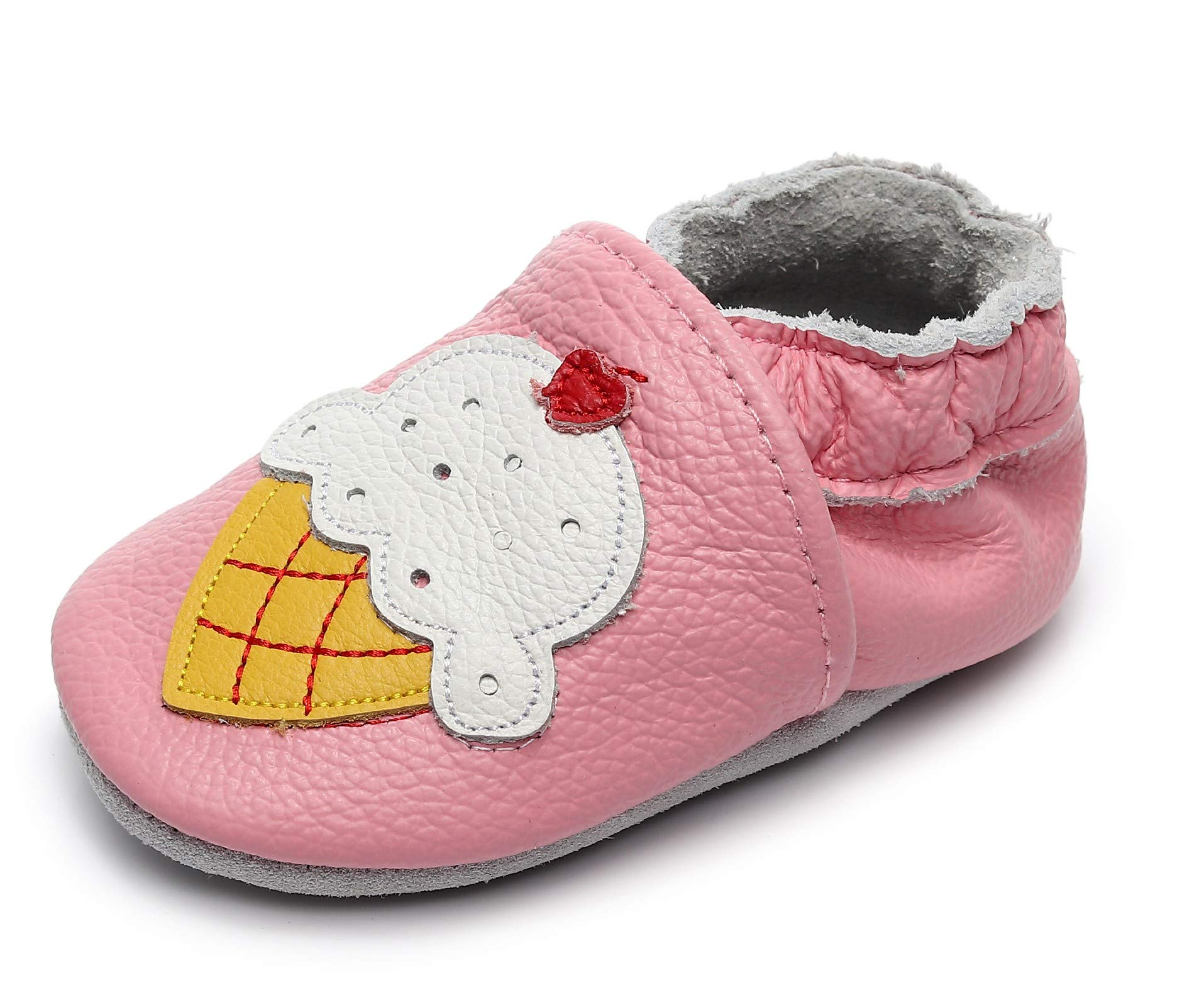 """efd4beea40ce Bebila Baby Boys Girls Shoes Leather Baby Moccasins Soft Soled Infant  Crawling Slippers for 0-24 Months (US 8 5.71""""  18-24months see Size Chart"""