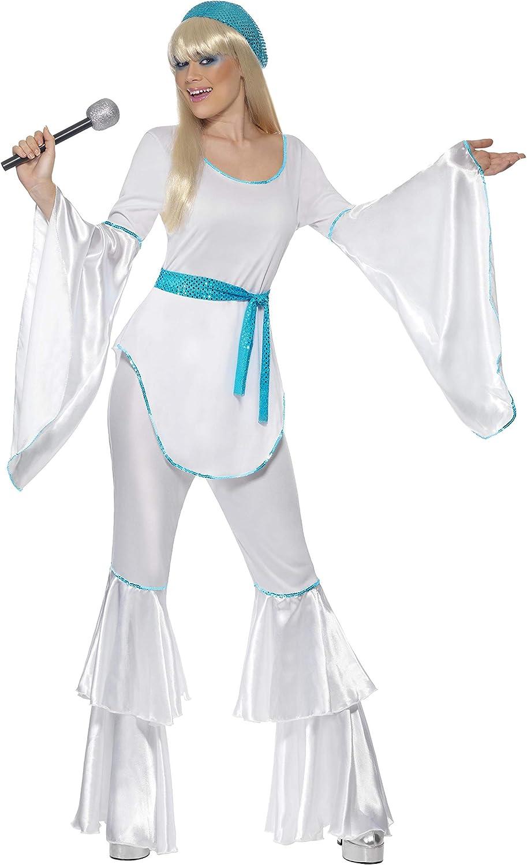 Smiffys-33483M Disfraz de Super Trooper, con Top, Pantalones, Sombrero y cinturón Corbata, Color Blanco, M-EU Tamaño 40-42 (Smiffy'S 33483M)