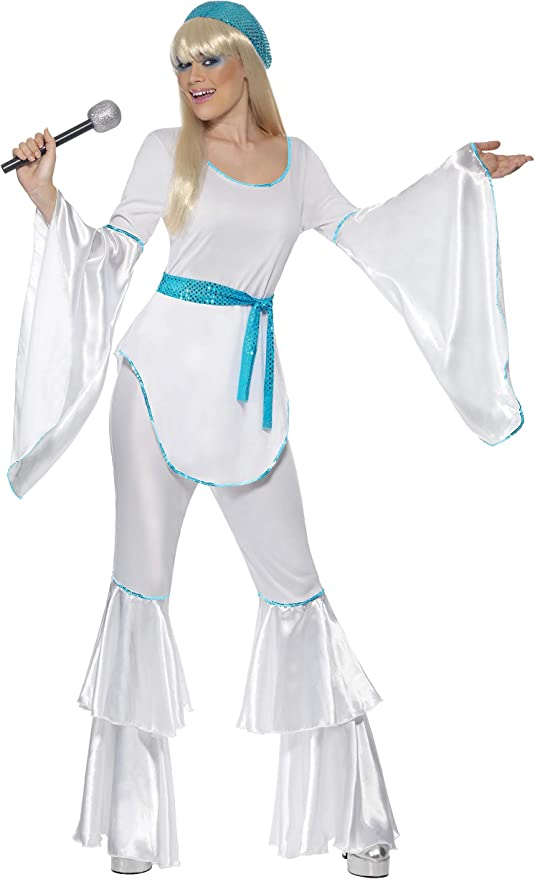70s Costumes: Disco Costumes, Hippie Outfits Smiffys Super Trooper Womens CostumeWhite Large £20.98 AT vintagedancer.com
