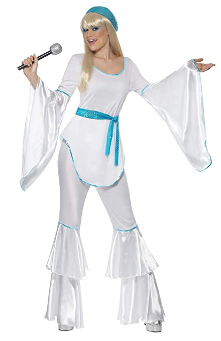 70s Costumes: Disco Costumes, Hippie Outfits Smiffys Womens Super Trooper Costume White $32.37 AT vintagedancer.com