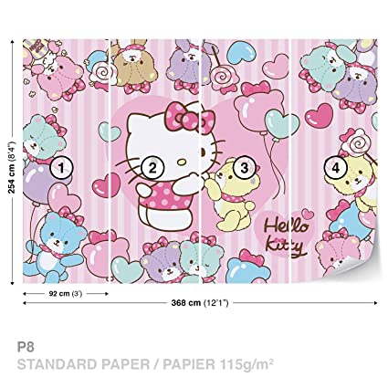 Hello Kitty Wall Mural Photo Wallpaper Room Decor 460ws Amazon Com