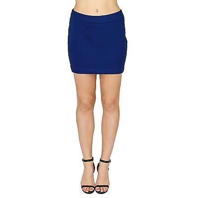 20Dresses Womens Textured Polyester Knit Short Mini Skirt Medium Blue at Amazon Women's Clothing store