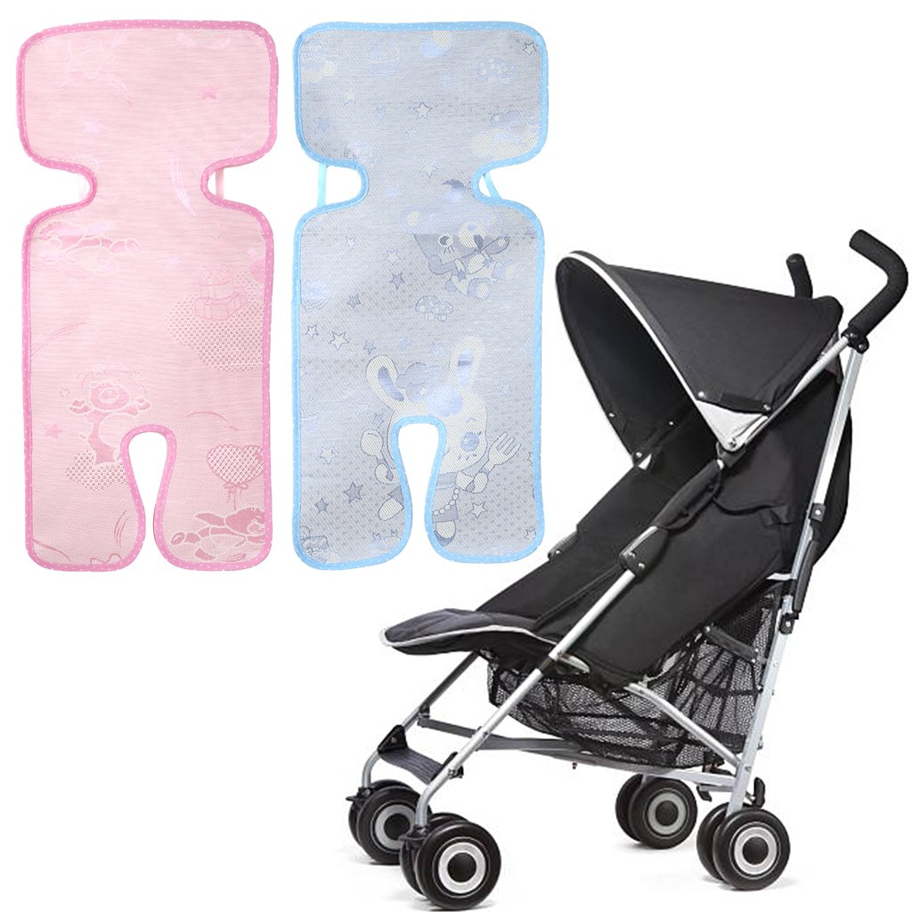 Pink Manyo Baby Stroller Mat Summer Cool Non-woven Fabric Cushion Breathable Car Seat Chair
