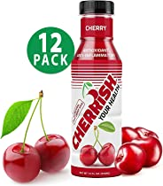 CHERRISH Tart Cherry Juice - 12oz - 12Pack Case - Extreme Hydration Improved Sleep Quality All Natural Sugar Sore Muscle Recovery Anti-inflammatory Sports Drink Healthy Snack