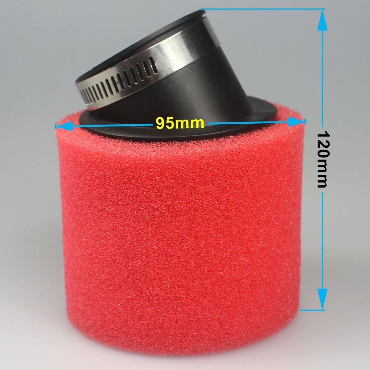 Ailes 45/mm Rouge filtre /à air double couche /éponge en mousse pour aspirateur 125/140/150/cc CRF KLX V/élo