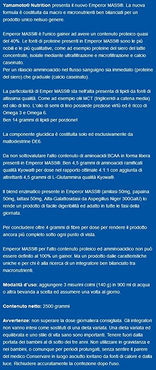 Yamamoto Nutrition Emperor Mass New Formula - 2500 gr: Amazon.es ...