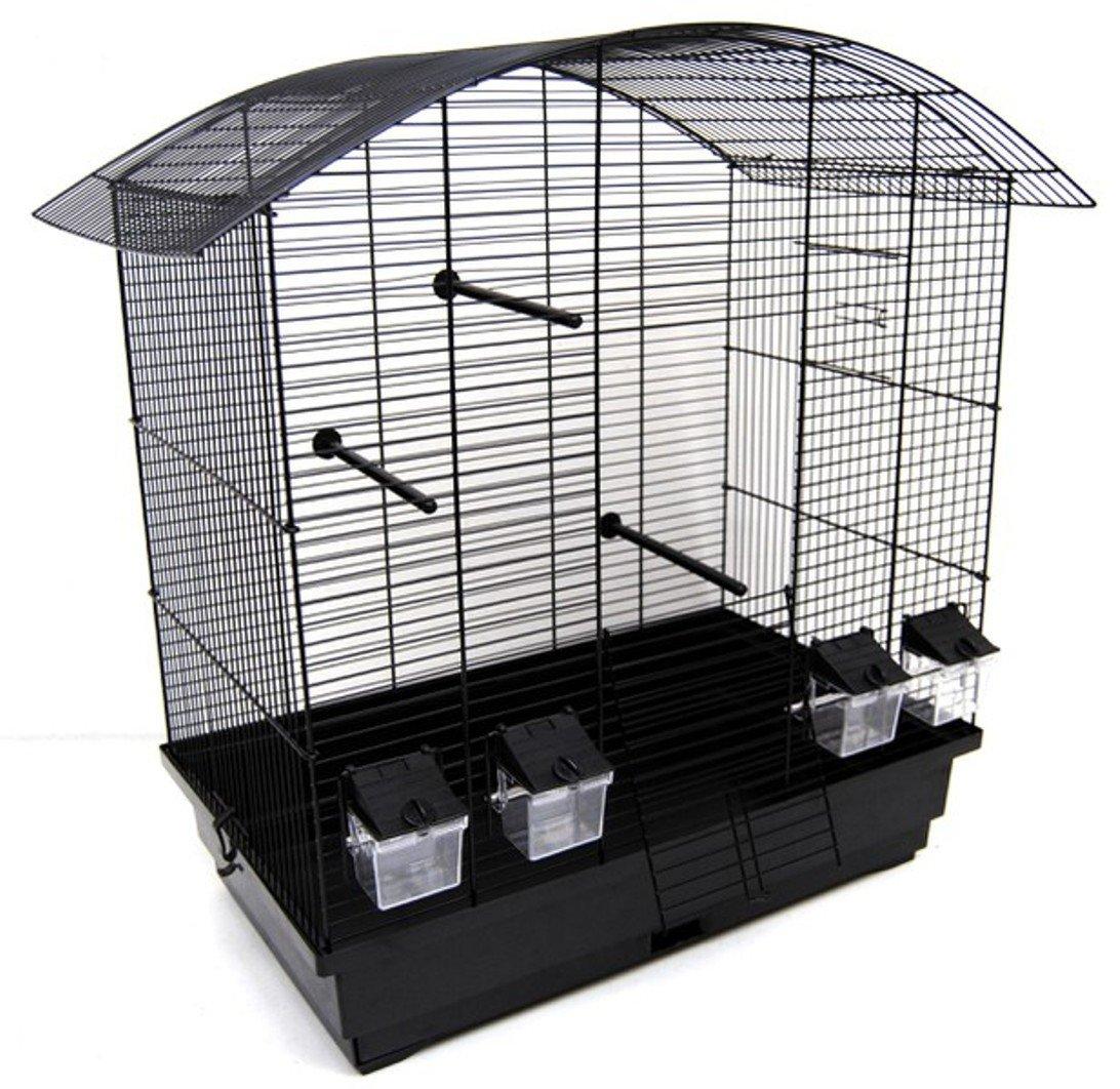 Cage des Oiseaux Perruche Ondulée Canaries Exotiques Noir M.O.