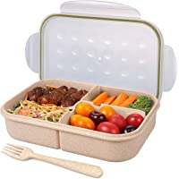 Jeopace Bento Transparent 3 Compartment Lunch Box