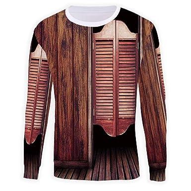 Amazon.com ISMYPRINT Men\u0027s Crewneck Western Pullover