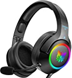 ONIKUMA Gaming Headset for PC,PS4,Xbox one,Noise Canceling Gaming Headphone with Microphone and Surround Sound, RGB LED…