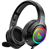 ONIKUMA Gaming Headset for PS4, PS5, PC, Xbox one (Adapter Not Included), Laptop, Noise Canceling Gaming Headphone with Micro