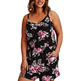 Lover-Beauty Ladies Shorts Jumpsuits Plus Size Floral Sleeveless Playsuit