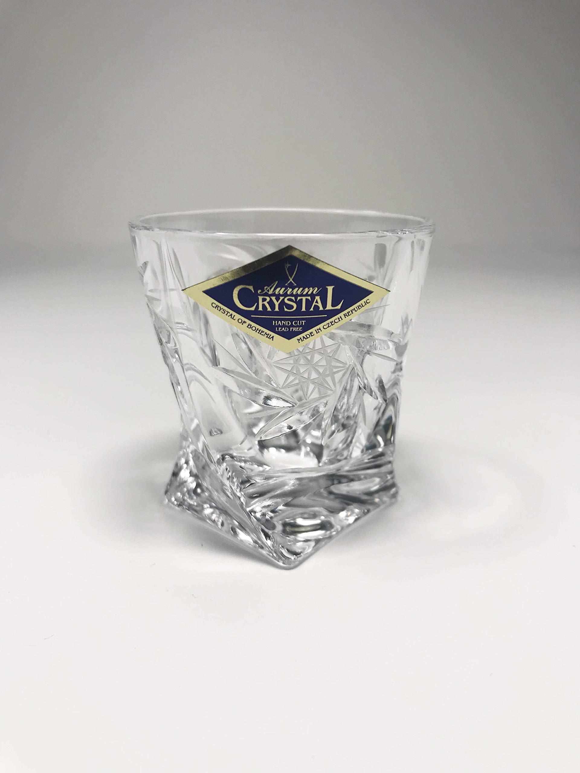BOHEMIAN CRYSTAL GLASS SHOT GLASSES 2oz. SET OF 6 HAND CUT CRYSTAL GLASS ELEGANT DECORATIVE GIFT SHOTS for VODKA WHISKEY LIQUEUR BRANDY COGNAC VINTAGE EUROPEAN DESIGN CLASSIC CZECH CRYSTAL GLASS