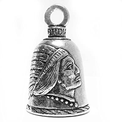 Guardian® Indian in Headdress Motorcycle Biker Luck Gremlin Riding Bell or Key Ring: Beauty