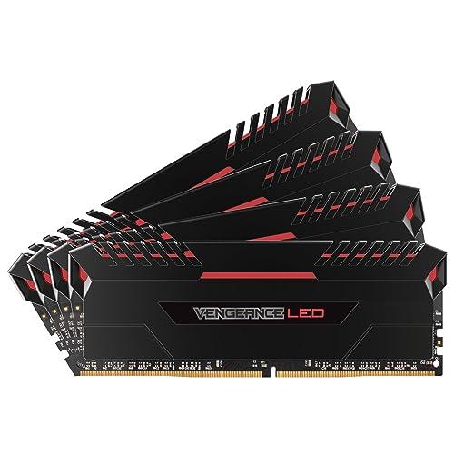Corsair Vengeance LED Kit de Memoria Entusiasta de 32 GB 4 x 8 GB DDR4 3000 MHz C16 XMP 2 0 Negro con Rojo LED iluminación