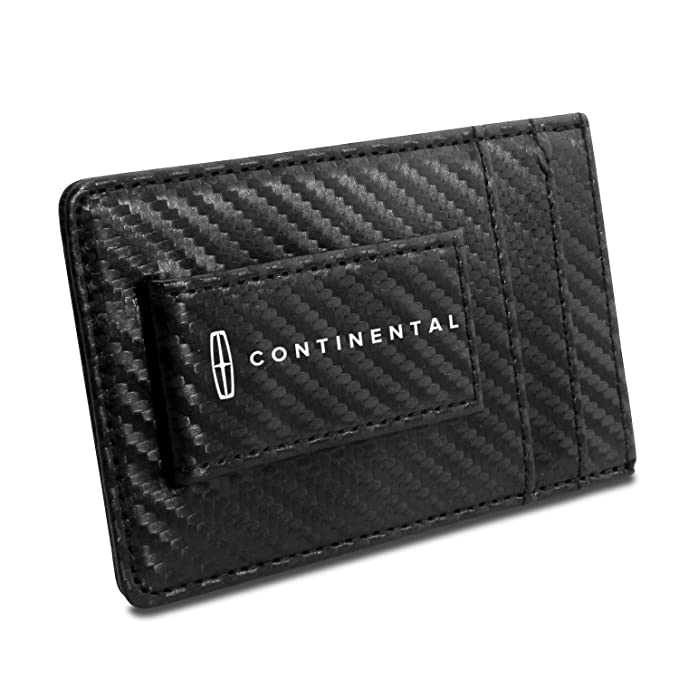b5f18d1609ef3b Image Unavailable. Image not available for. Color: Lincoln Continental  Black Carbon Fiber Leather Wallet ...