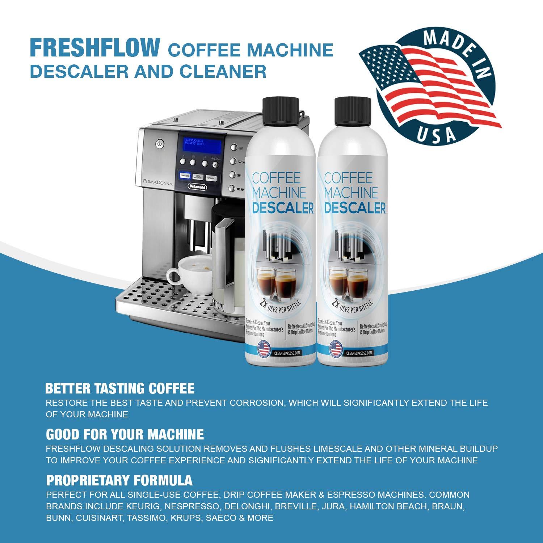 FreshFlow - 2 botes de descalcificación líquida para máquinas ...