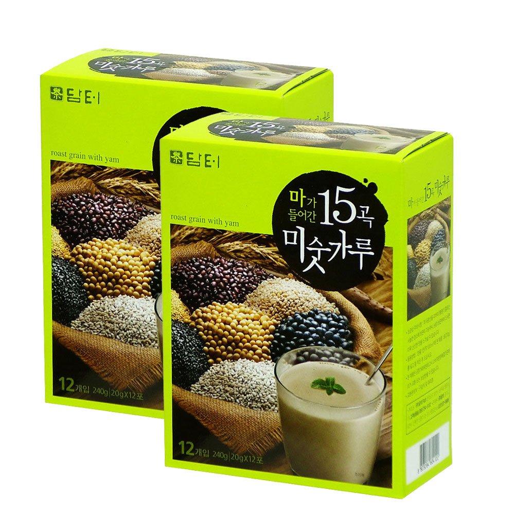 Damtuh - Juego de 2 cajas de grano de asado con polvo de yma ...