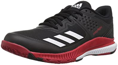 premium selection 622cb d8684 adidas Womens Crazyflight Bounce W Volleyball Shoe BlackWhitePower RED 5  Medium US