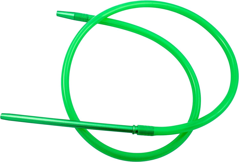 Manguera para cachimba shisha - Incluye muelle y boquilla de materiales premium (Verde)