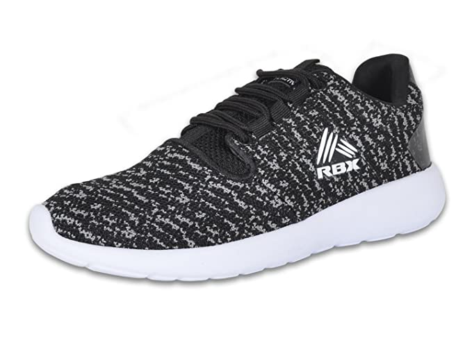e230919158b03 RBX Women's Rayna Athletic Cross Training Running Lightweight Shoes Black/ Grey/White 8.5