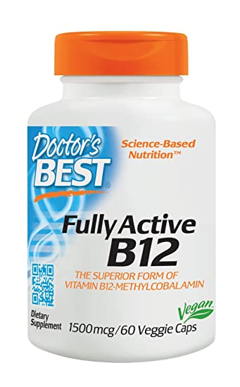 Amazon.com: Doctor's Best Fully Active B12 1500 mcg, Non-GMO ...