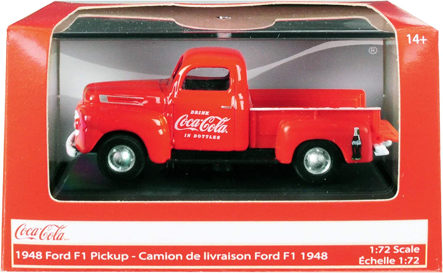 1948 Ford F1 Pickup Truck Coca-Cola Red 1/72 Diecast Model Car by Motorcity Classics 472001