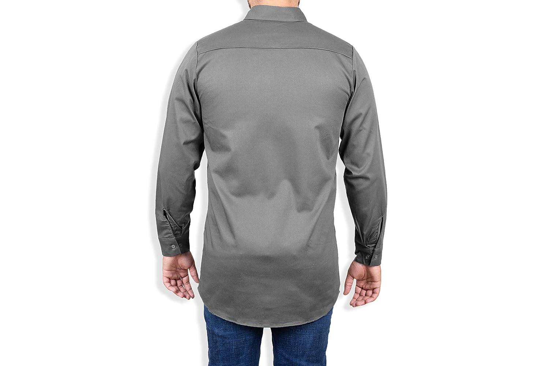 Khaki Welding Shirt Fire Resistant Shirt For Men Work Shirt FR Shirt