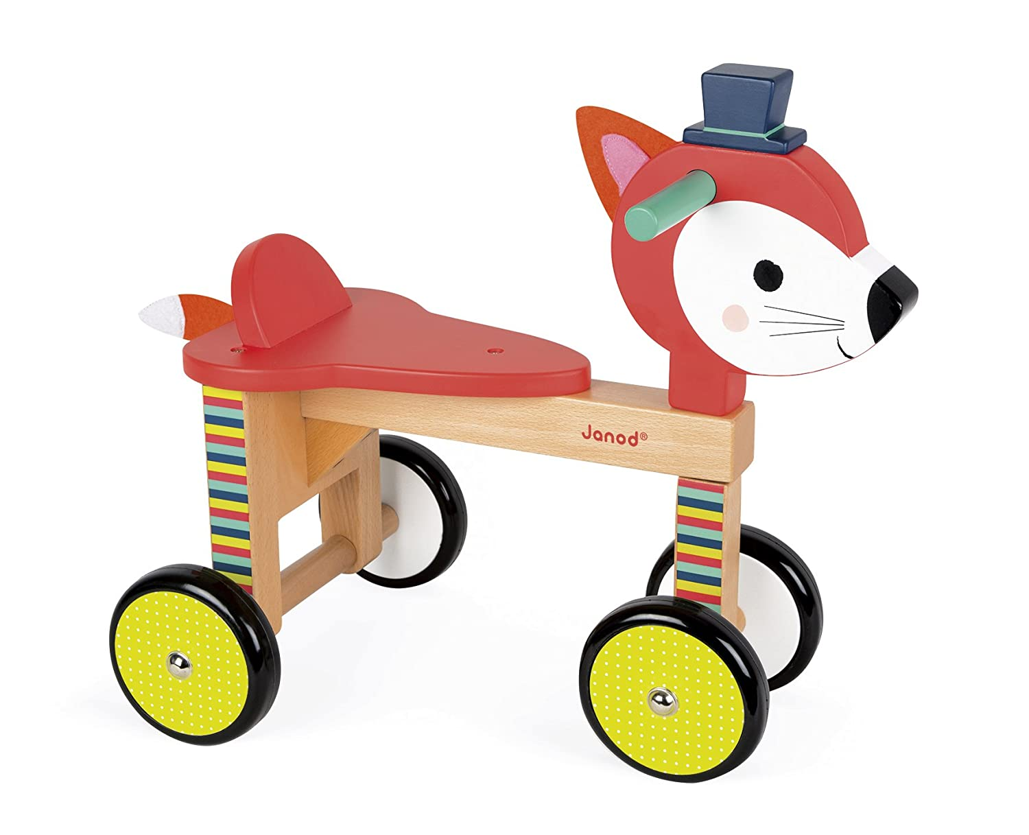 Juratoys Confident Janod Baby Forest Fox Stacker Wooden Baby Toys