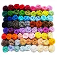 YXJDWEI Lana Errante 72 Colores Fieltro De Lana