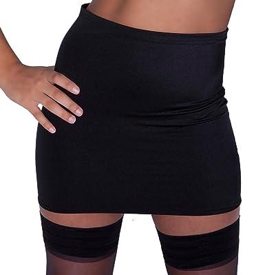 Fantasystore XS1 Black Skirt Plain Women's Basic Lycra Mini Bodycon ...