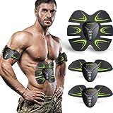 HOPOSO Electroestimulador Muscular Abdominales, Estimulación Muscular Masajeador Eléctrico Cinturón Abdomen/Brazo…