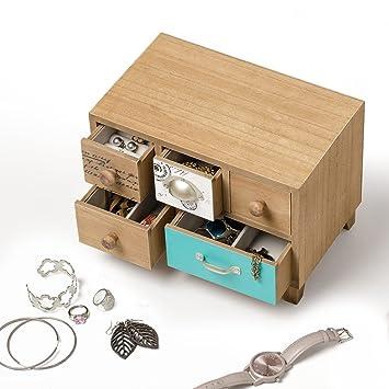 Balvi - Bureau Caja para Guardar Joyas. Joyero de Madera.: Amazon.es: Juguetes y juegos