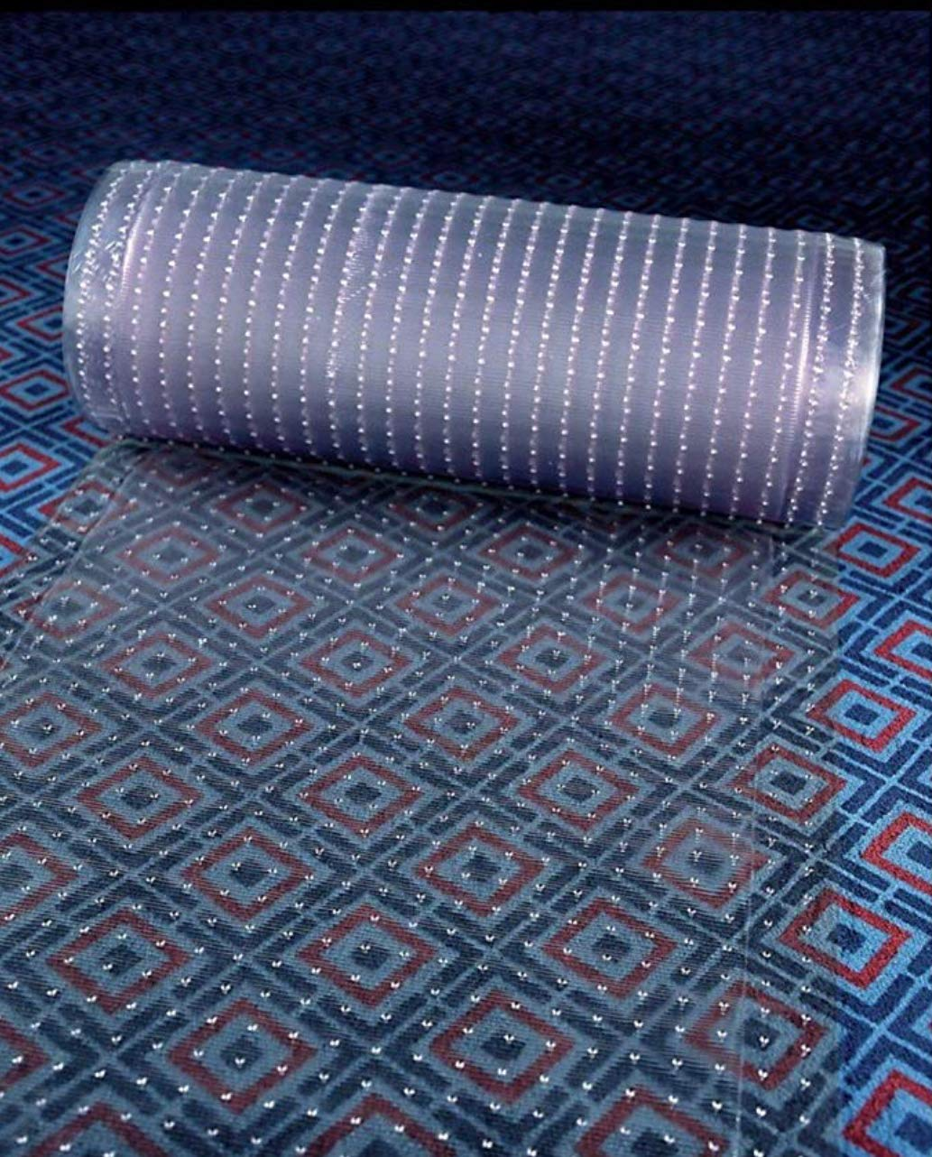 Clear Plastic Runner Rug and Carpet Protector mat Multi-Grip (26in x 15FT)